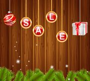 Vier Weihnachtskugeln Stockfotos