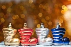Vier Weihnachtsmatten Stockfotos