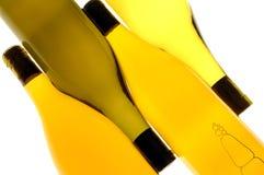 Vier Wein-Flaschen stockfotografie