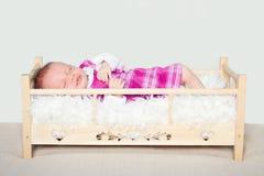Vier weken het portret van de oude baby Royalty-vrije Stock Foto
