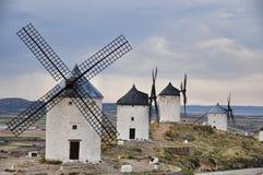 Vier windmolens royalty-vrije stock fotografie
