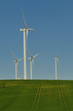 Vier windturbine royalty-vrije stock foto