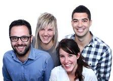 Vier wirkliche Leute Lizenzfreie Stockfotos