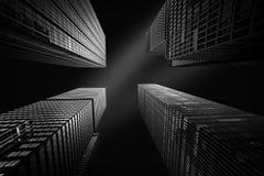 Vier wolkenkrabbers van New York Royalty-vrije Stock Foto