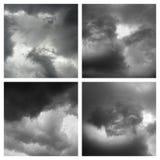 Vier wolkenvormingen Royalty-vrije Stock Afbeeldingen