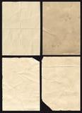 Vier zerknitterte Papierbeschaffenheit Lizenzfreie Stockfotografie