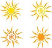 Vier zonnen Stock Foto
