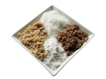 Vier Zucker in einem Diamanten stockfoto