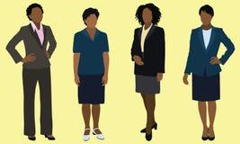 Zwarte BedrijfsVrouwen Stock Afbeeldingen