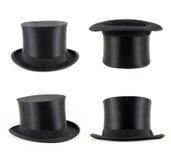 Vier zwarte cilinders Royalty-vrije Stock Afbeeldingen