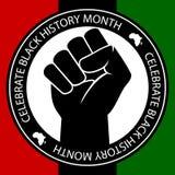 Vier Zwarte Geschiedenis Stock Afbeeldingen