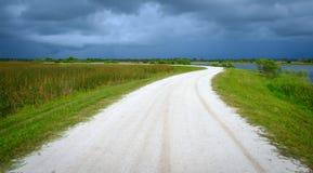 Viera Wetlands Road Florida Royalty-vrije Stock Afbeeldingen