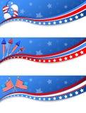 Vierde banners van Juli Royalty-vrije Stock Afbeeldingen