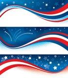 Vierde banners van Juli Stock Fotografie