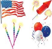 Vierde pictogrammen van Juli vector illustratie