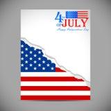 Vierde van Amerikaanse de Onafhankelijkheidsdag van Juli Royalty-vrije Stock Afbeelding