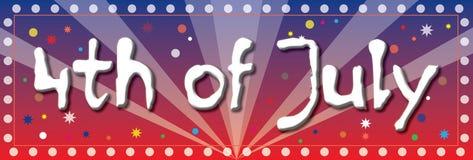 vierde van de Banner van Juli Royalty-vrije Stock Foto's