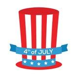 vierde van de dag van de Onafhankelijkheid van Juli Stock Afbeelding