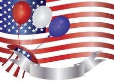 vierde van de Illustratie van de Ballons van Juli Stock Afbeelding