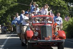 vierde van de parade van Juli Stock Afbeeldingen