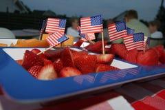 Vierde van de Plaat van het Fruit van Juli Stock Foto