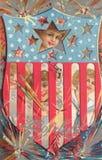 Vierde van de prentbriefkaar van Juli Royalty-vrije Stock Afbeelding
