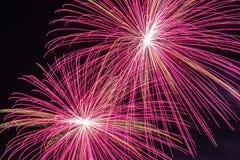 vierde van de Vertoning van het Vuurwerk van Juli stock foto