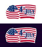 vierde van de Vlag van Juli Eagle de V.S. stock illustratie