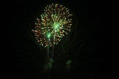 vierde van het vuurwerk van Juli. Stock Foto's