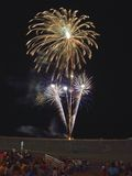 vierde van het Vuurwerk van Juli Stock Foto's
