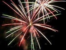 vierde van het Vuurwerk van Juli Royalty-vrije Stock Afbeelding