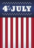 vierde van Juli-affiche Stock Afbeelding