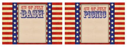 vierde van Juli-BBQ Picknick royalty-vrije stock afbeelding