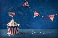 Vierde van Juli cupcakes stock fotografie