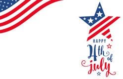 Vierde van Juli vierde van Juli-de banner van de vieringsvakantie vector illustratie