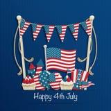 Vierde van Juli-decoratie Stock Afbeelding