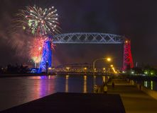 Vierde van Juli in Duluth Minnesota royalty-vrije stock afbeeldingen