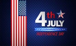 Vierde van Juli-Onafhankelijkheidsdag abstracte achtergrond Vector vector illustratie