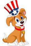 Vierde van Juli-puppy royalty-vrije illustratie