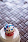 Vierde van Juli-Ster Cupcakes Royalty-vrije Stock Afbeeldingen