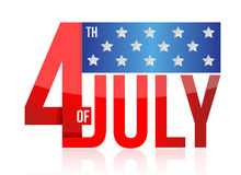vierde van juli teken Royalty-vrije Stock Afbeeldingen