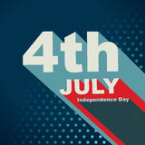vierde van juli-tekst Royalty-vrije Stock Afbeeldingen