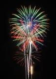 vierde van juli Vuurwerk stock afbeeldingen