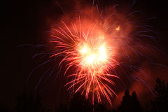 vierde van Juli-Vuurwerk in Eagle Point, Oregon Royalty-vrije Stock Afbeelding
