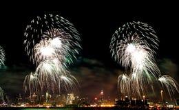 Vierde van Macy van het vuurwerk van Juli Stock Foto