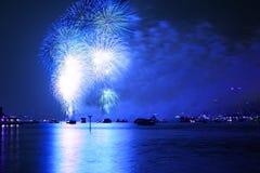 Vierde van Macy van het vuurwerkvertoningen van Juli Stock Fotografie