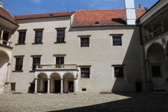 Viereck in TelÄ- Schloss Lizenzfreies Stockfoto