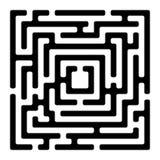 Viereckslabyrinth izolated auf Weiß Lizenzfreies Stockbild