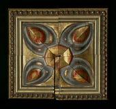 Vierflächige quadratische dekorative Rosette von hölzernen Gestaltungsstreifen Lizenzfreie Stockfotografie