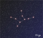 Vierge de constellation illustration stock